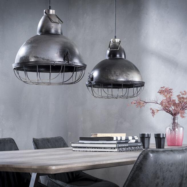 Industriële Dubbele Hanglamp 'Stephen', 2 x 38cm