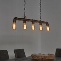 Industriële Hanglamp 'Brock' 5-lamps