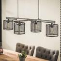 Industriële Hanglamp 'Djimon' 4-lamps Ø20cm