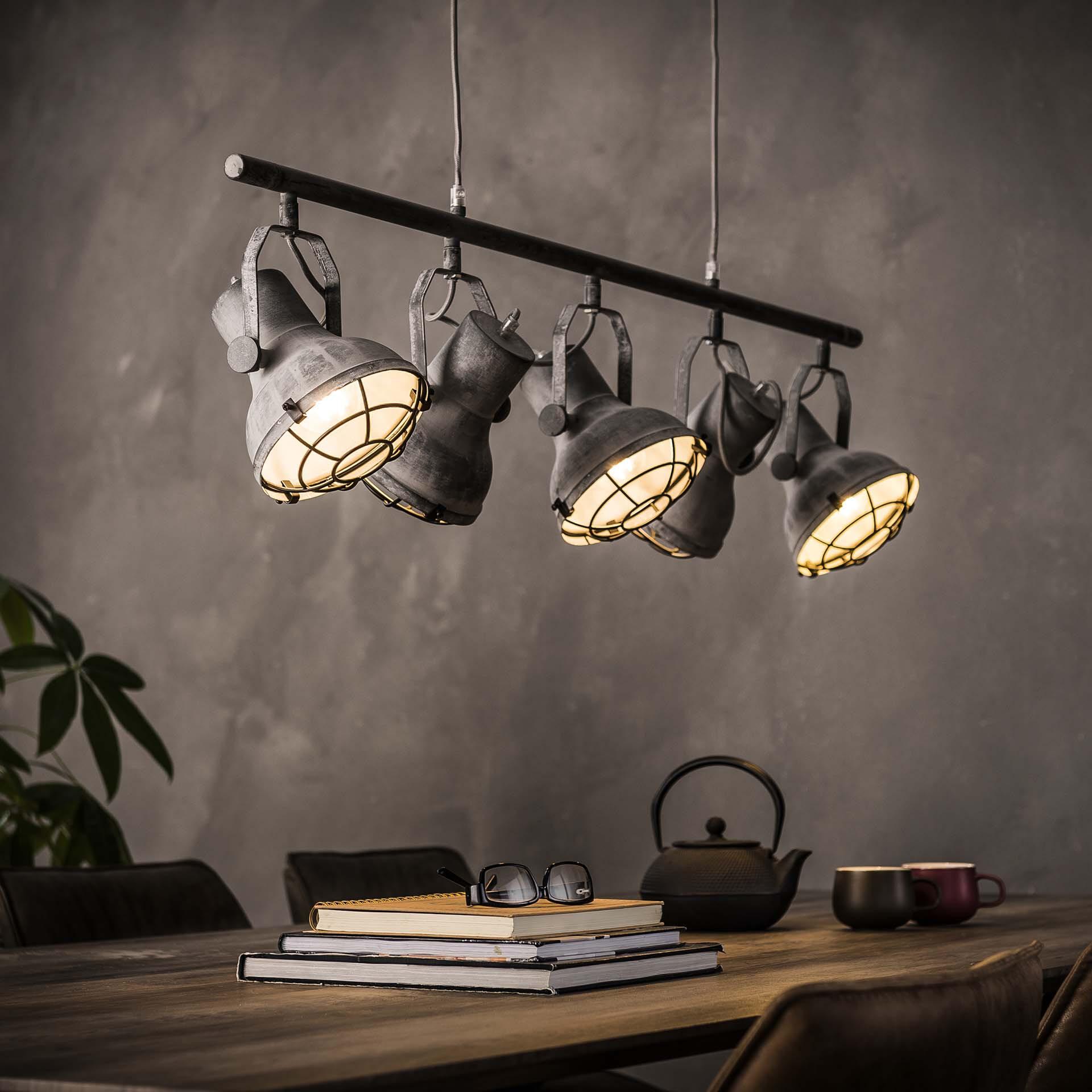 Industriele Hanglamp 'Feridun' 5-lamps