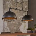 Industriële Hanglamp 'Glenn' met 2 kappen van Ø40 cm