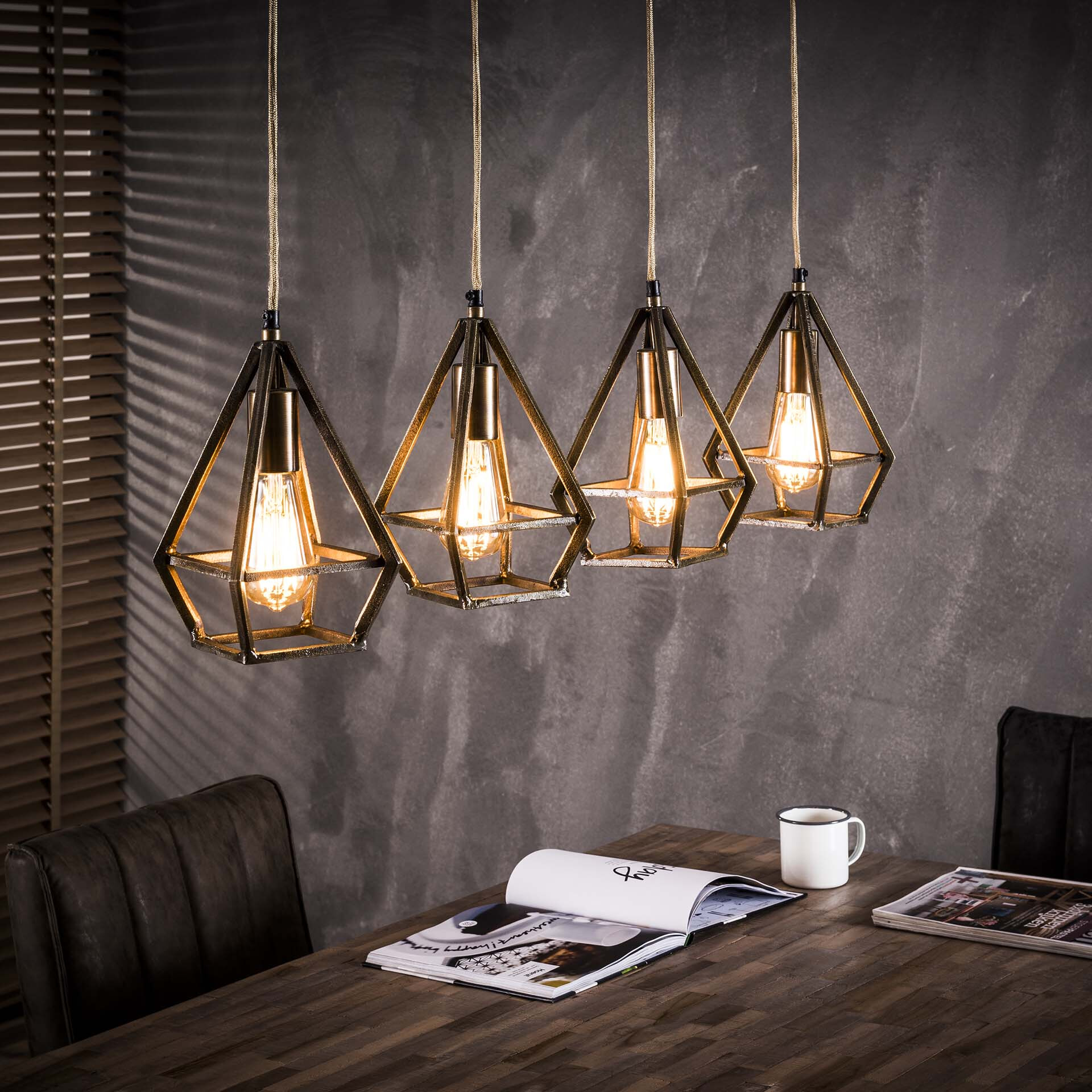 Industri�le Hanglamp 'Maggie' 4-lamps