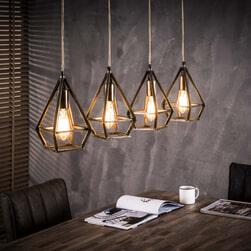 Industriële Hanglamp 'Maggie' 4-lamps
