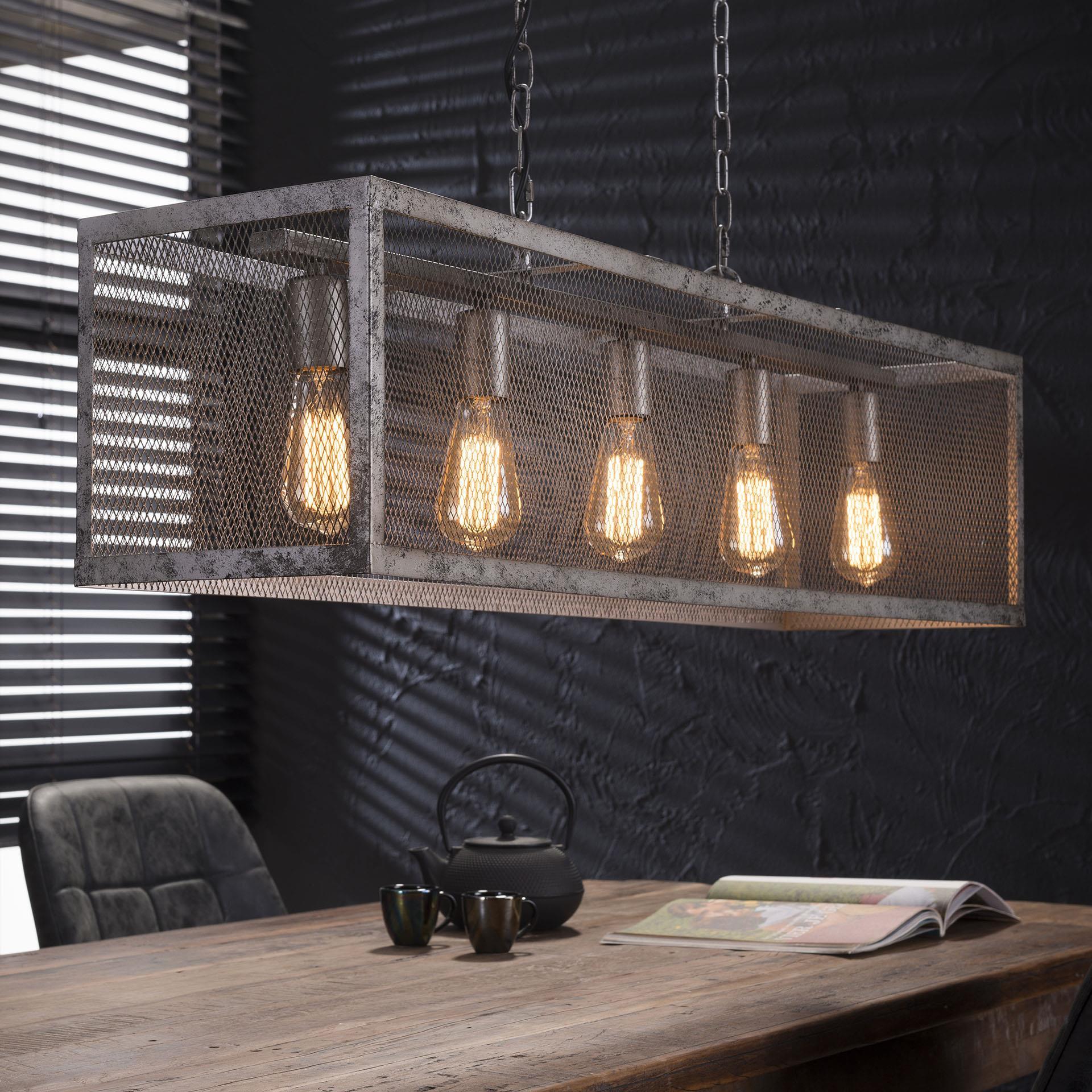 Industriële Hanglamp 'Matt' 5-lamps Verlichting | Hanglampen vergelijken doe je het voordeligst hier bij Meubelpartner
