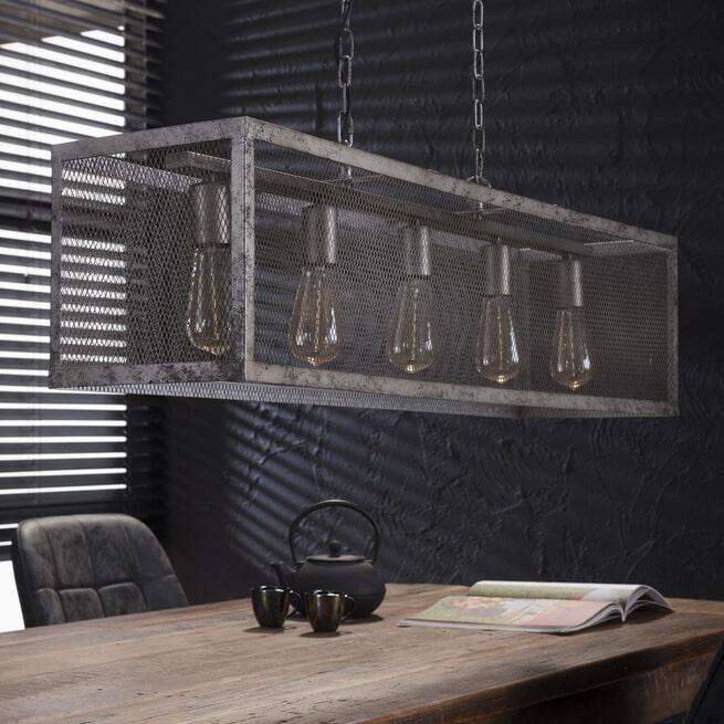 Industriële Hanglamp 'Matt' 5-lamps