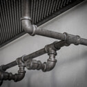 Industriële Kapstok 'Laurie' waterleidingbuis met 5 haken