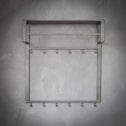 Industriële Kapstok 'Terry' 80cm, met 2 x 6 haken