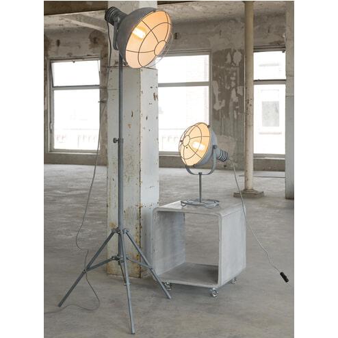 Industriële vloerlamp 'Trevon', driepoot in betonlook