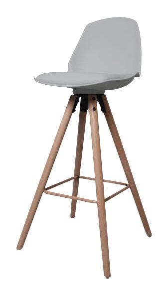Interstil Barkruk 'Oslo', kleur grijs Zitmeubelen | Barkrukken & Barstoelen vergelijken doe je het voordeligst hier bij Meubelpartner
