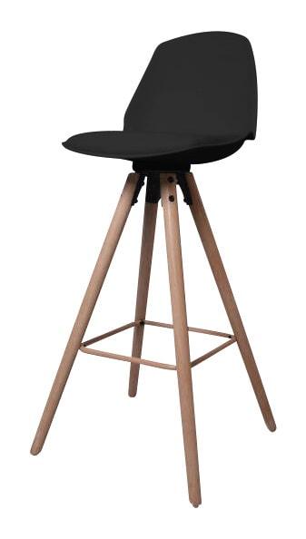 Interstil Barkruk 'Oslo', kleur zwart  vergelijken doe je het voordeligst hier bij Meubelpartner