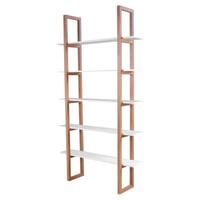 Interstil Boekenkast 'Store', kleur hoogglans wit / eiken