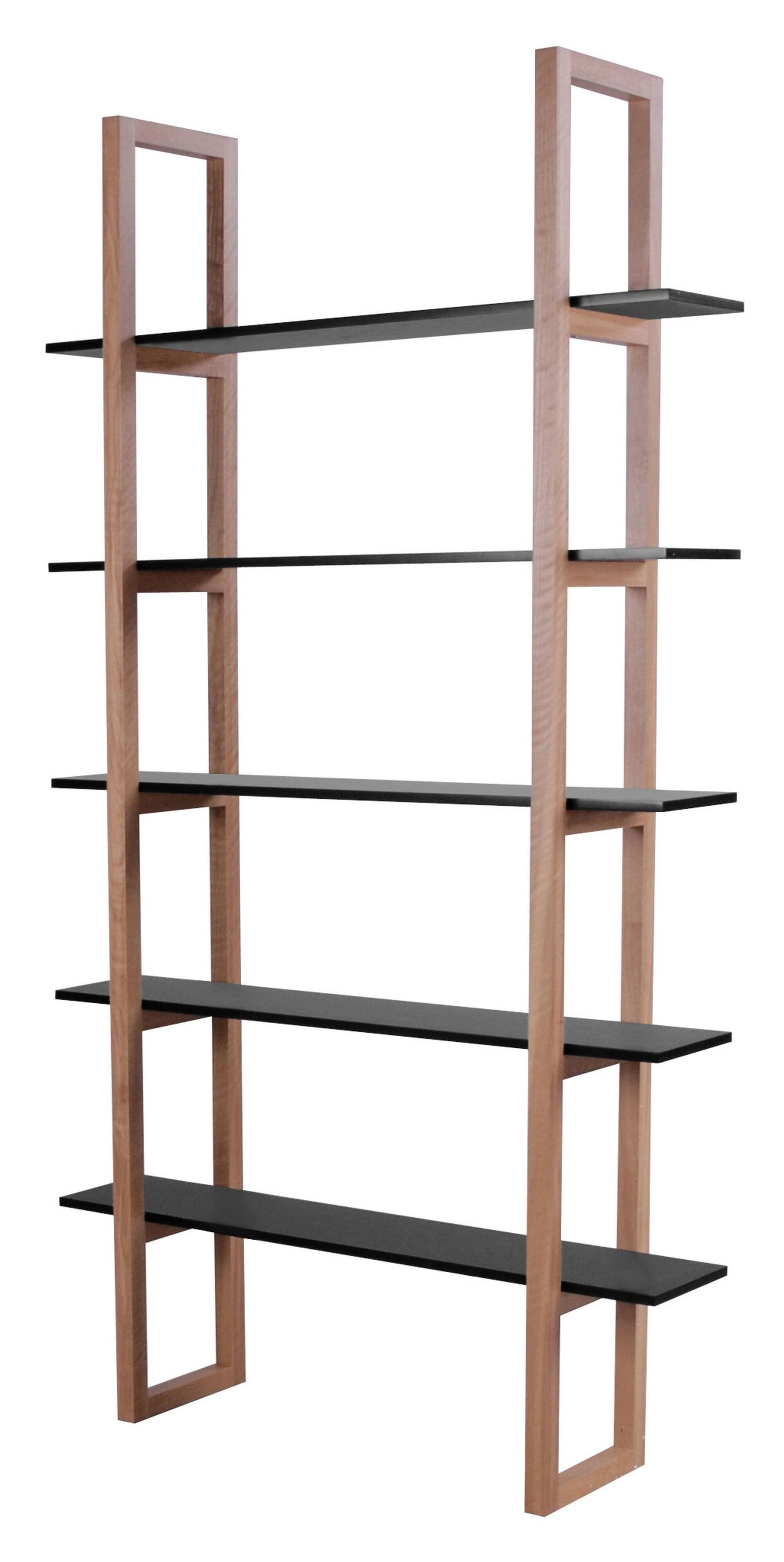 Interstil Boekenkast 'Store', kleur zwart - eiken