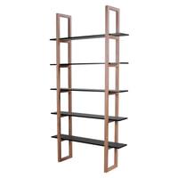 Interstil Boekenkast 'Store', kleur zwart / eiken