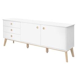 Interstil Dressoir 'Century' 180cm, kleur wit/hout