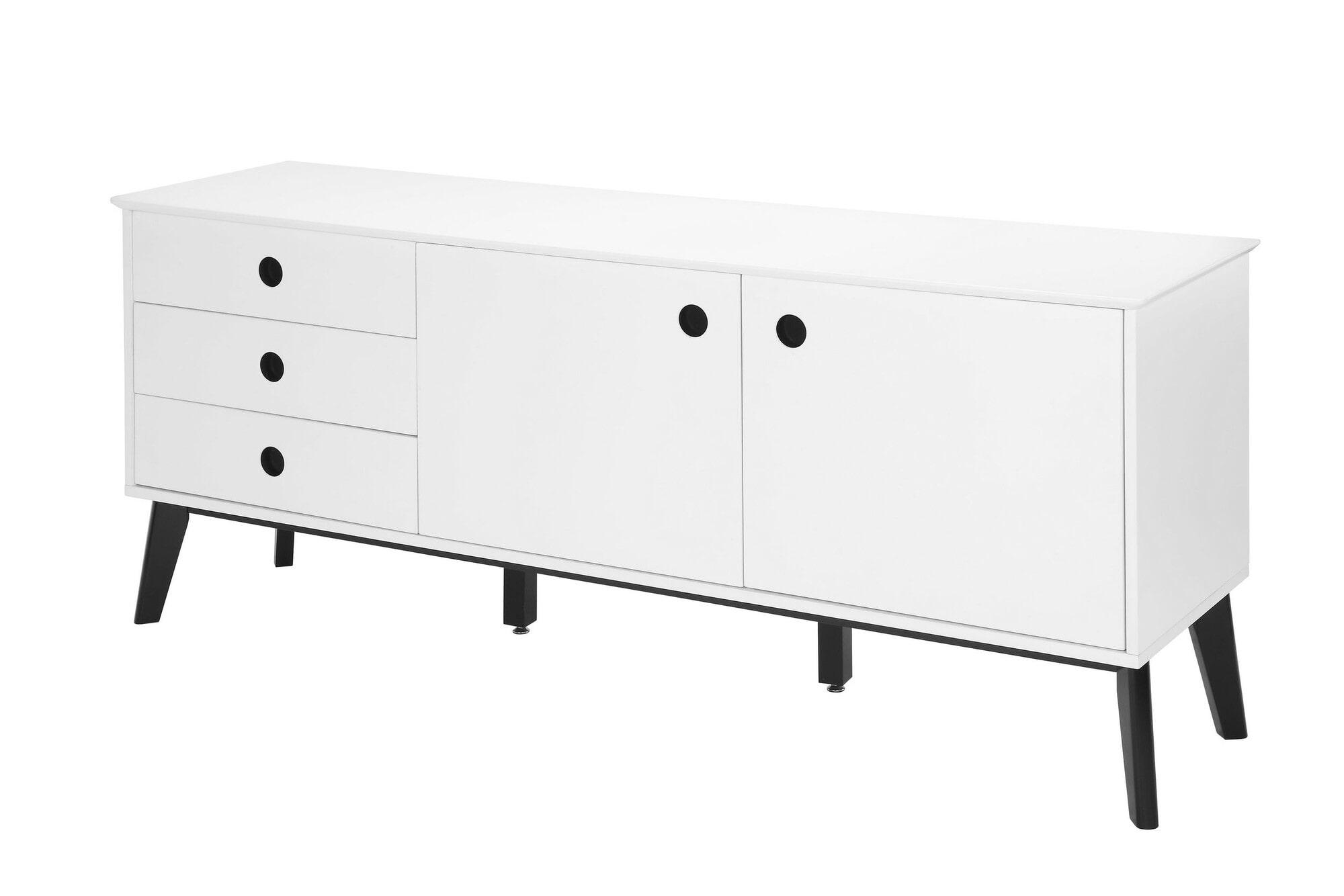 Interstil Dressoir 'Century' wit/zwart, 180cm