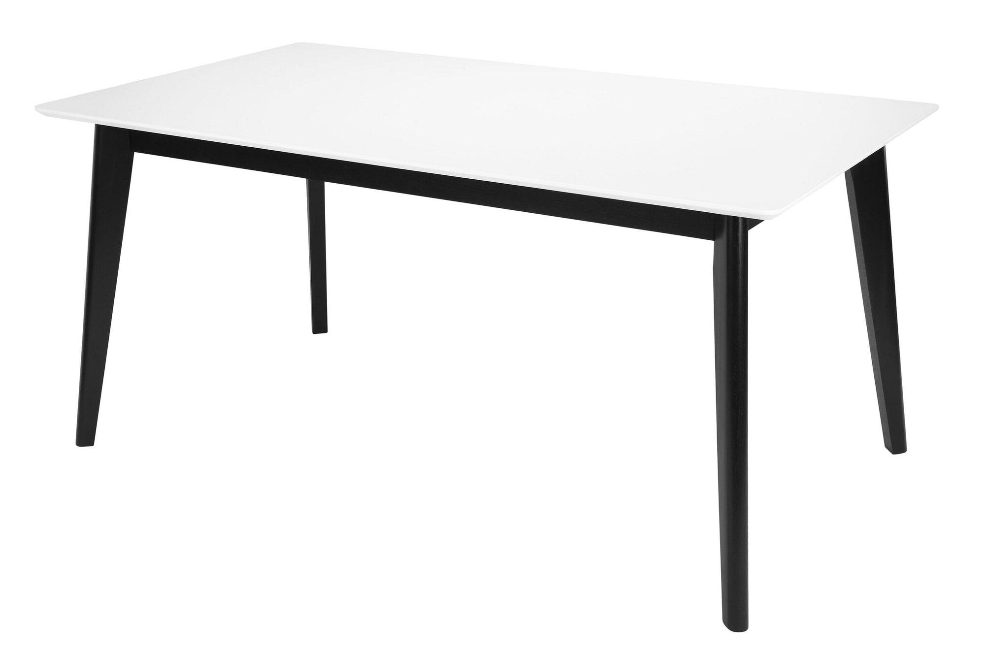 Witte Eettafel 160.Interstil Eettafel Century Wit Zwart 160 X 90cm Is 10165 3