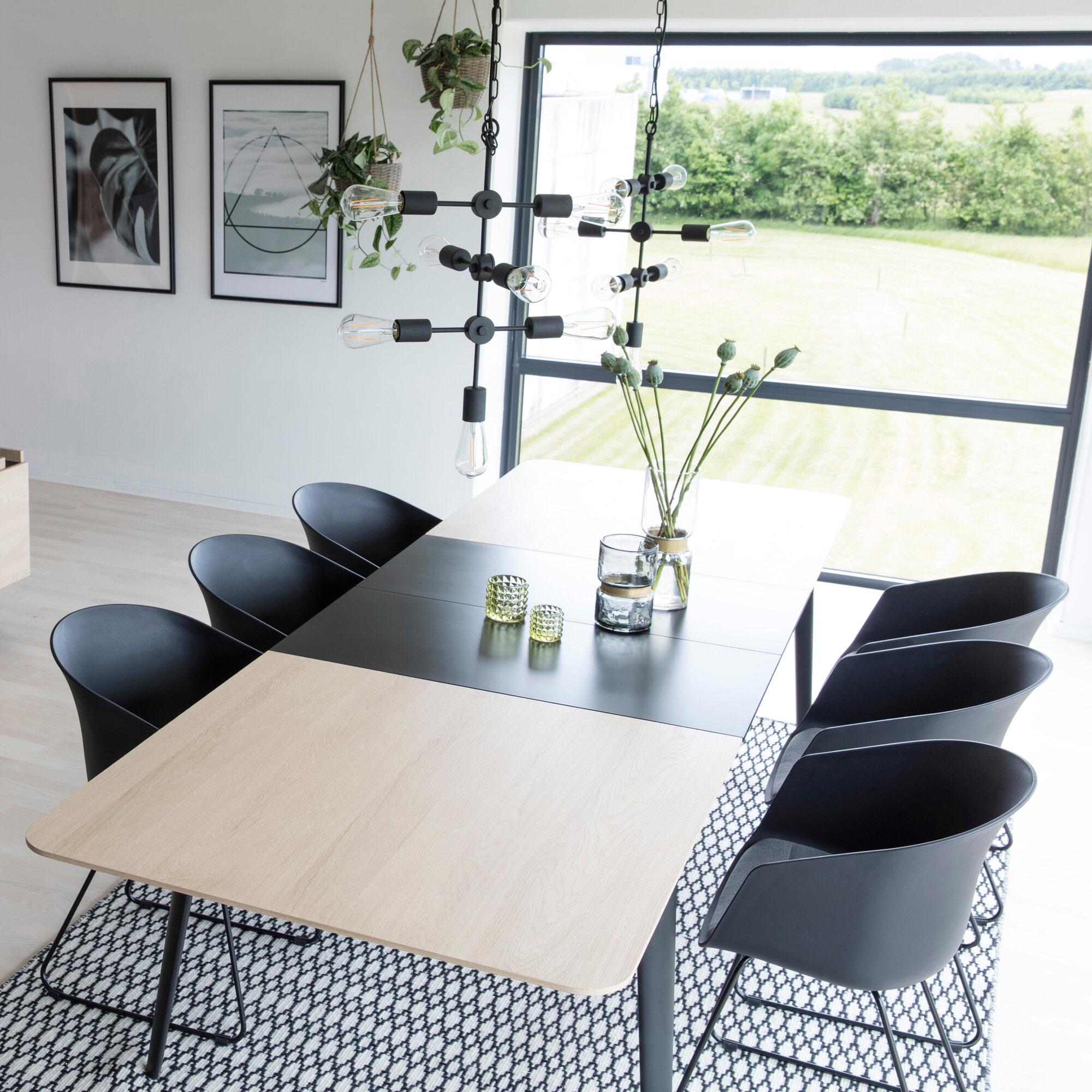 Interstil Eettafel 'Connect', 200 x 100cm incl 2 verlengbladen