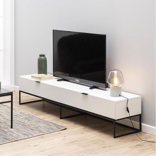 Interstil Tv-meubel 'Kobe' 200cm, kleur wit