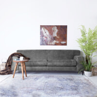 SEVN Bank 'Iris' 3-zits, kleur antraciet
