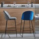 Kave Home Barkruk 'Ivonne' Velvet, kleur Grijs