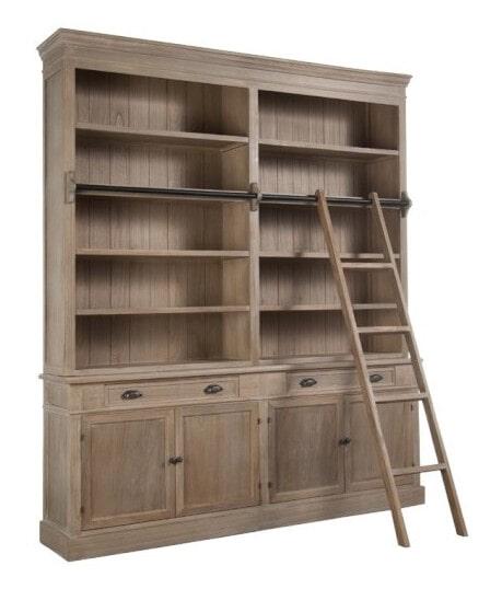 J Line Boekenkast 'Teresa' met ladder