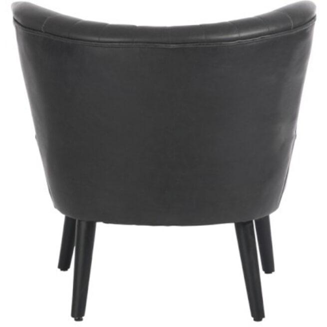 J-Line Fauteuil 'Elia' Pu-leder, kleur zwart