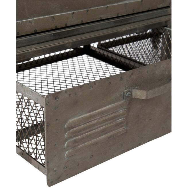 J-Line Industriële Kledingkast 'Florimond' metaal