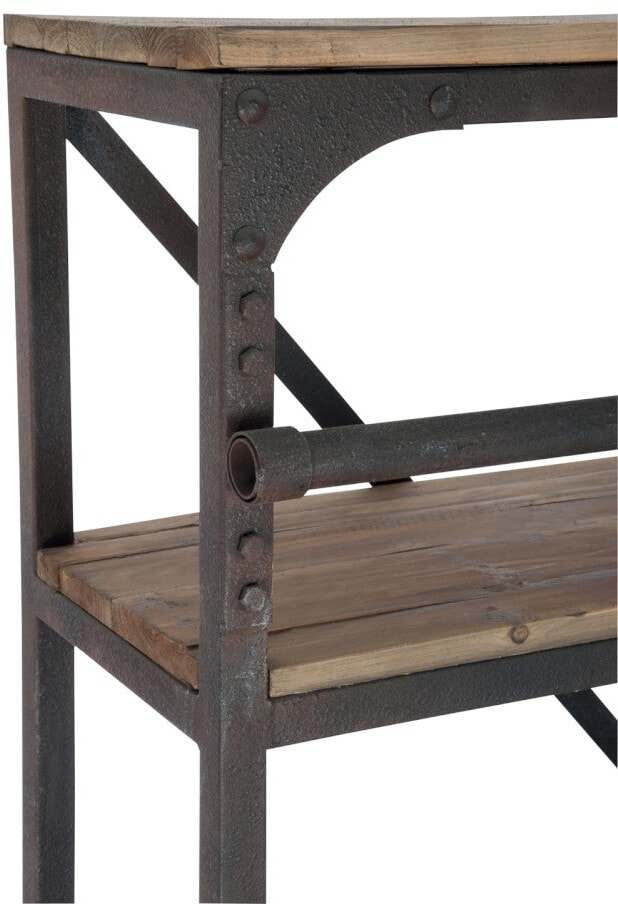 Wonderbaar SoHome Industriele Wandkast / Boekenkast Juliën met ladder PM-72