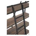 J-Line Industriele Wandkast / Boekenkast 'Juliën' met ladder