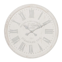 J-Line Klok 'Angelica' 90cm, kleur wit/grijs