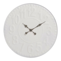 J-Line Klok 'Josine' 58cm, kleur wit