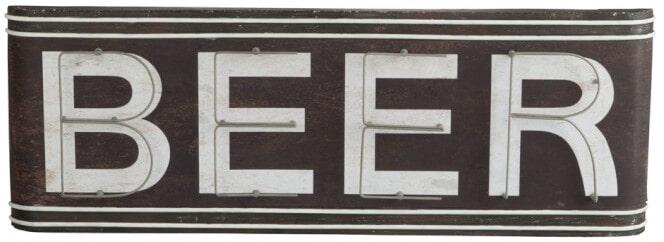 J-Line Vintage wandbord 'Beer' Woonaccessoires | Decoratie vergelijken doe je het voordeligst hier bij Meubelpartner