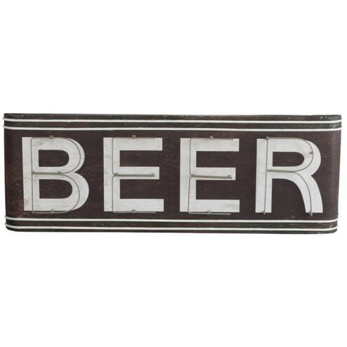 J-Line Vintage wandbord 'Beer'