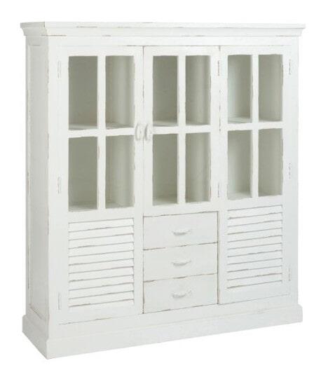 J-Line Vitrinekast 'Francinne' 145cm, kleur wit