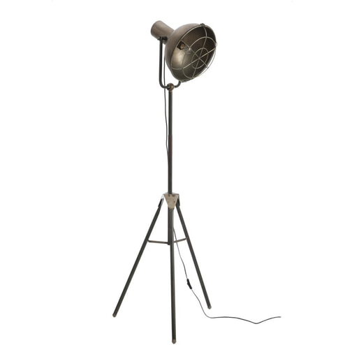 J-Line Vloerlamp 'Hendrina' 150cm hoog, kleur metaal