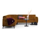Sohome Hoekbank 'Jill' Velvet, kleur cognac
