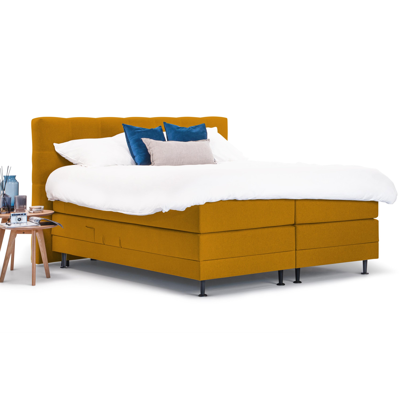 Op SlaapkamerComfort: Alles voor slapen is alles over gadgets te vinden: waaronder meubelpartner en specifiek Sohome Boxspring Louis-Mosterdgeel-160 x 200 cm-Vlak