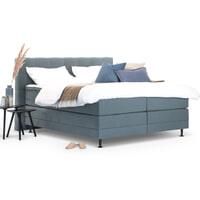 Sohome Boxspring 'Louis'-Grijs-blauw-180 x 210 cm-Elektrisch verstelbaar