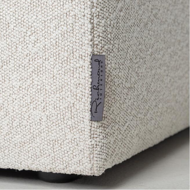 Richmond Loungebank 'Juniper' Bouclé, Links en rechts, kleur wit
