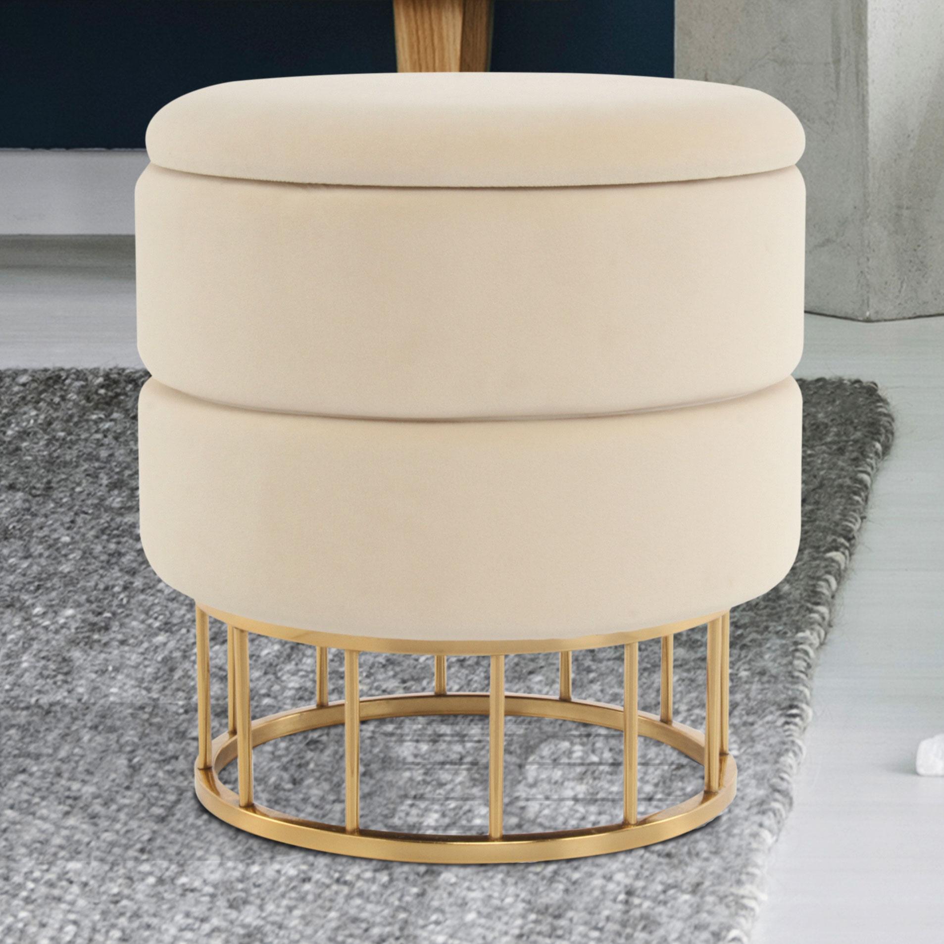 Kayoom Krukje 'Nul' met opbergruimte, kleur beige