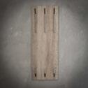 Kapstok 'Kieran' 35cm, met 2 x 3 haken, kleur Greywash
