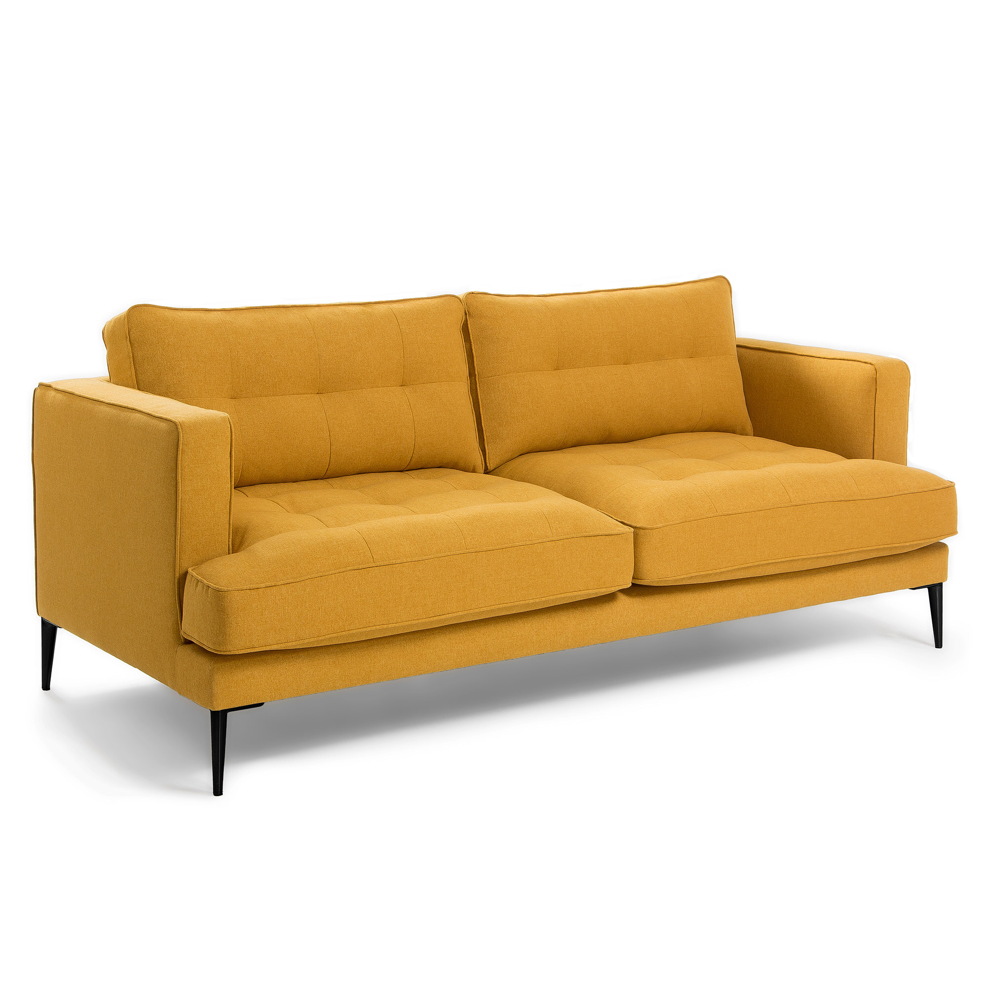 Kave Home 3-zits Bank 'Tanya' kleur Mosterdgeel