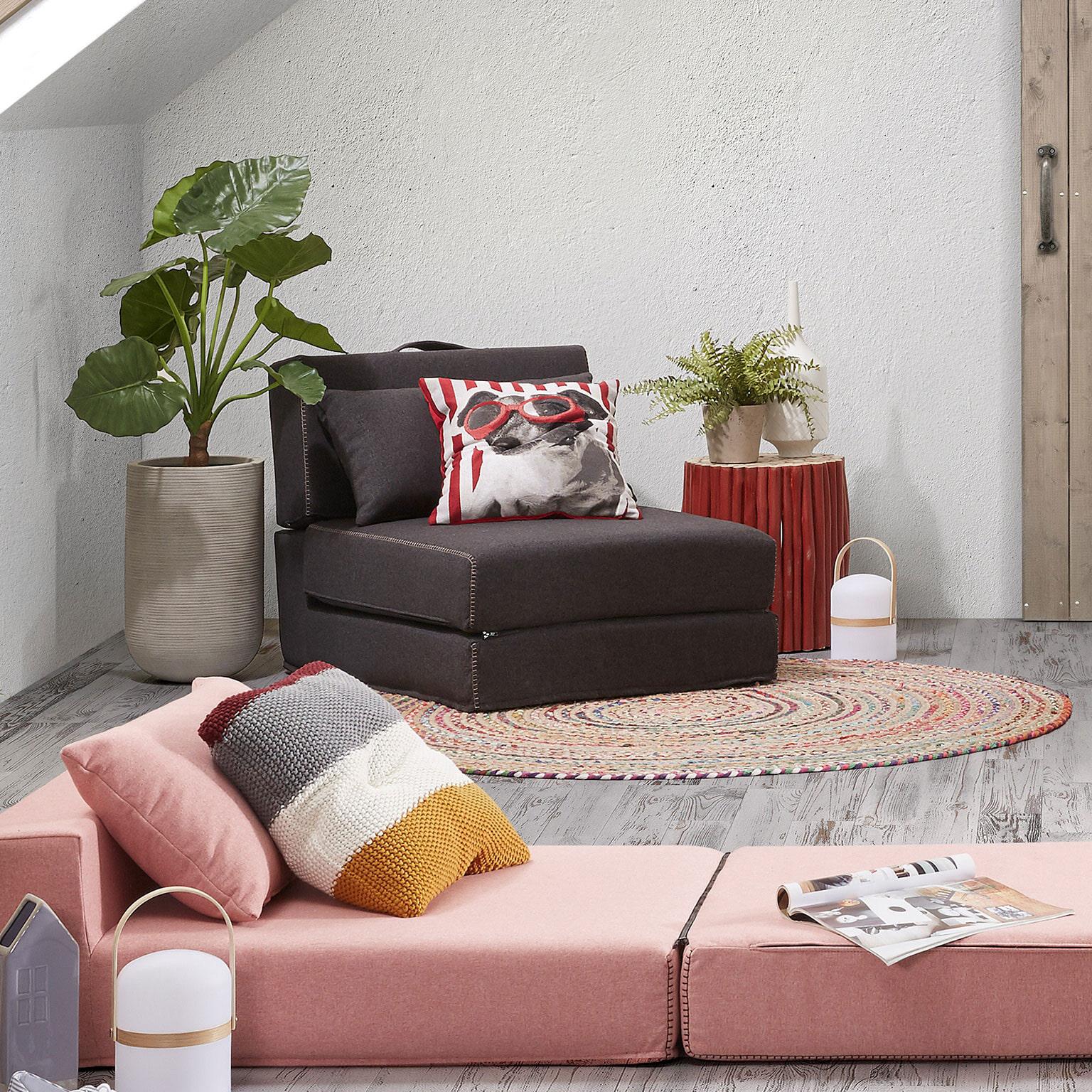 Kave Home Vouwbed Arty kleur antraciet