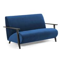 Kave Home Bank 'Meghan' 2-zits, kleur Donkerblauw