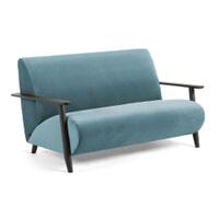 Kave Home Bank 'Meghan' 2-zits, Velvet, kleur Turquoise