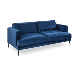 Kave Home Bank 'Tanya' 3-zits, Velvet, kleur Donkerblauw