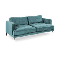 Kave Home Bank 'Tanya' 3-zits, Velvet, kleur Turquoise