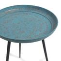 Kave Home Bijzettafel 'Sence' 40cm, kleur blauw