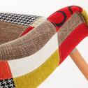Kave Home eetkamerstoel / kuipstoel 'Kevya' Patchwork met armleuning