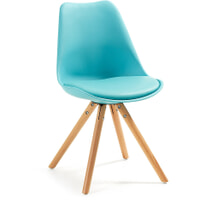 Kave Home eetkamerstoel / kuipstoel 'Ralf', kleur blauw